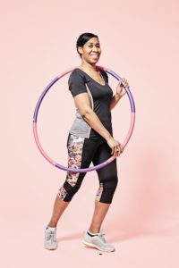 CC favourite exercise with a fitness hula hoop