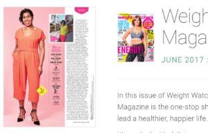 CC in Weight Watchers Magazine digital media