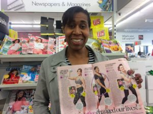 CC displaying the article in Woman Magazine